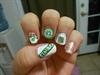 Starbucks nails ( left hand)