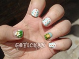 Flowers and dots