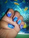 1 main - 5 nails : Blue