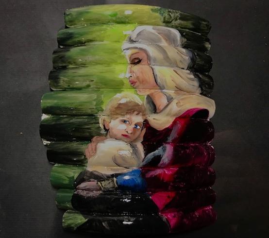 """Mary And Child"" artist Andrey Shishkin"