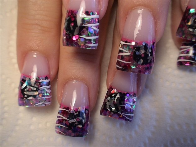 hot pink zebra nail art gallery