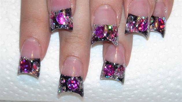 Hot Pink Rockstar Spangles Nail Art Gallery