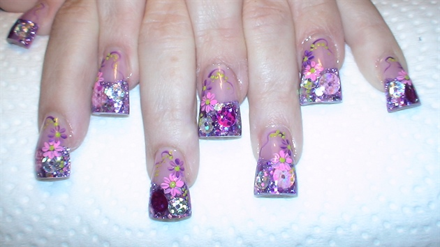 Pink and Purple Floral rockstar