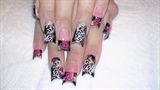 Hot Pink Leopard with swirls