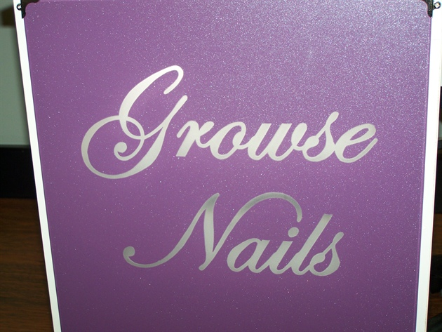 Business Name In Glass On Table Nail Art Gallery