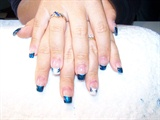 bride wore blue