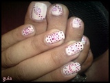 polka dots and a heart