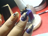 matte violet and shimmery gold