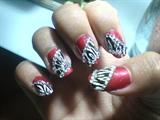 glamorous red zebra