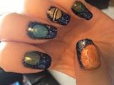 Galaxy/Solar system nails
