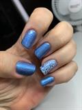 Blue & stamp