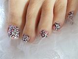 Pink & White Leopard Print Nail Wrap