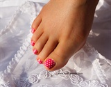 Pink Polka Dot Pedicure Springs here