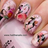 Geisha Girl Nail Art