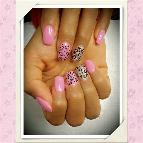 Leopard-Print Nail Art