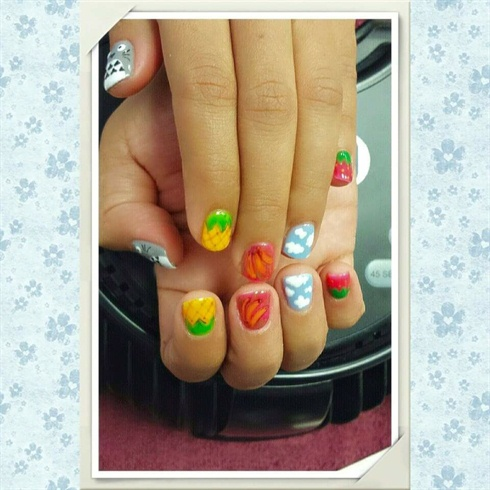 Hand-Painted Nail Art