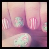 Pastel Roses Nails