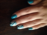 Turquoise Argyle