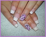 french with violet flowers