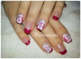 gellack & one stroke nail art