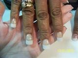 Glitter & Rhinestone inside nail