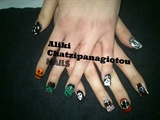 Halloween by Aliki Chatzipanagiotou NAILS