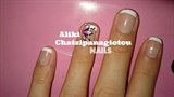 flower french manicure