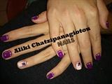 elegant purple manicure