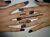 amazing black nails!!!!!