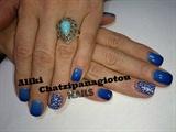 amazing blue nails!!!!