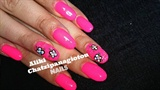 neon pink and flowers