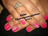 pink edged flowers