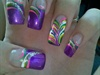 purple with designs!