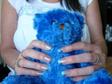 Blue acrylic with nail art
