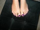 purple glitter toes