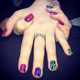 Bright And Bold Gel Polish Nail Art