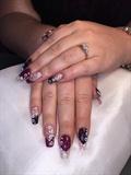 Sparkly Acrylic Clear Nails