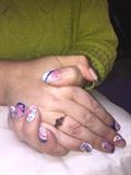 Flower Inspired Gelish Nails :-)