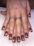Spring Sunrise Inspired Gelish Nails