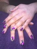 Purple Negative Space Gel Nails