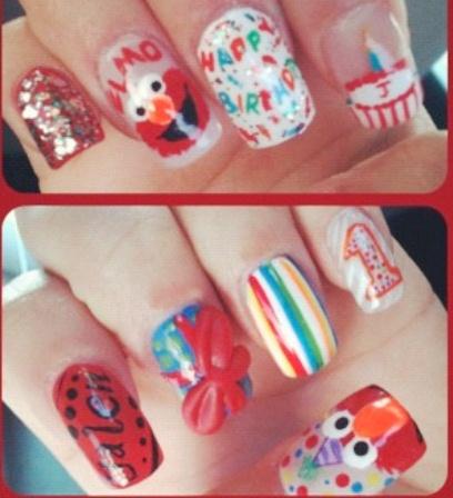 Elmo Nail Art Gallery