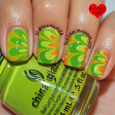 St. Patrick's Day Water Marble