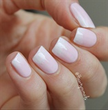 Soft pink with white tips