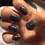 Snake skin nail art!