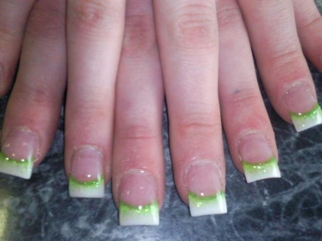 green n white flair