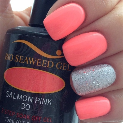 Salmon Pink Sparkle