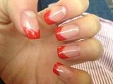 Red V-Shaped French Mani