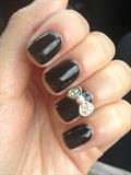Black Bow Nails