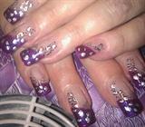 purple color gel cheetah print