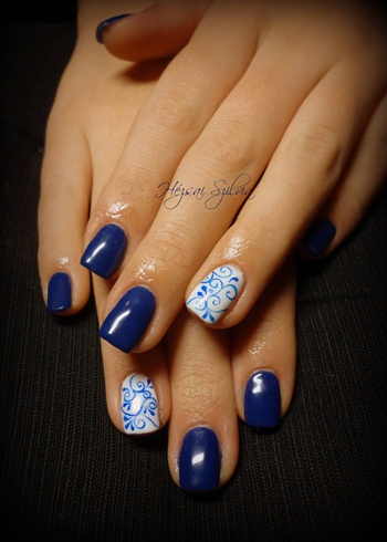 hand-painted gel polish